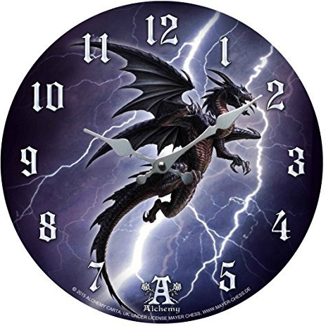 "Horloge ""dragon gothique"""